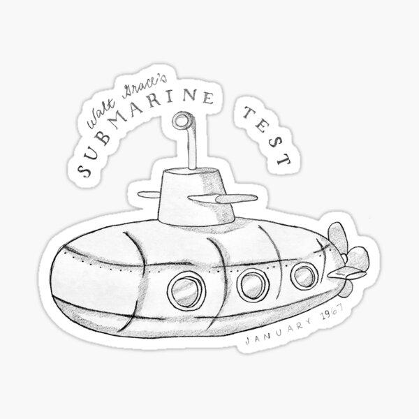 Walt Grace's Submarine Test Sticker