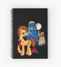 Doctor Whooves - Black Spiral Notebook