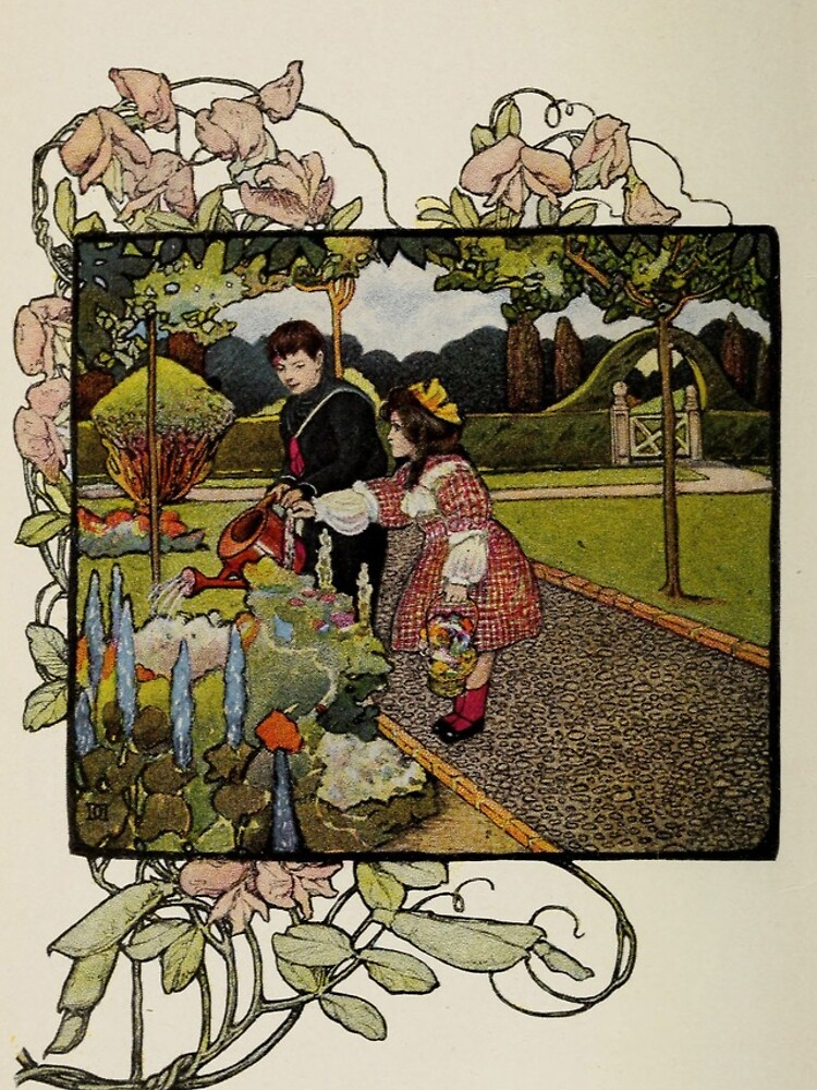 """Vintage Art from """"A little garden calendar for boys and girls"""" book by douglasewelch"""