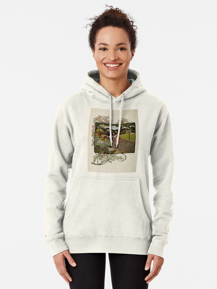 """Alternate view of Vintage Art from """"A little garden calendar for boys and girls"""" book Pullover Hoodie"""