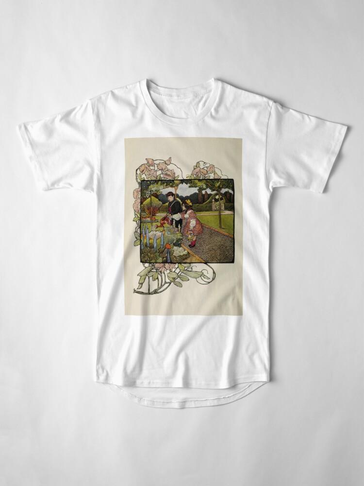 "Alternate view of Vintage Art from ""A little garden calendar for boys and girls"" book Long T-Shirt"