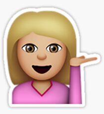 Blond Hair Toss Emoji Sticker
