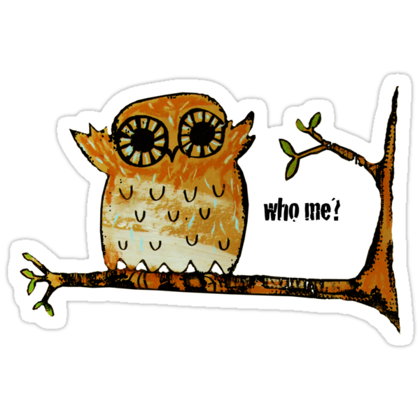 Who Me? Owl by © Karin Taylor