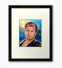 Chris Hemsworth Art Framed Print