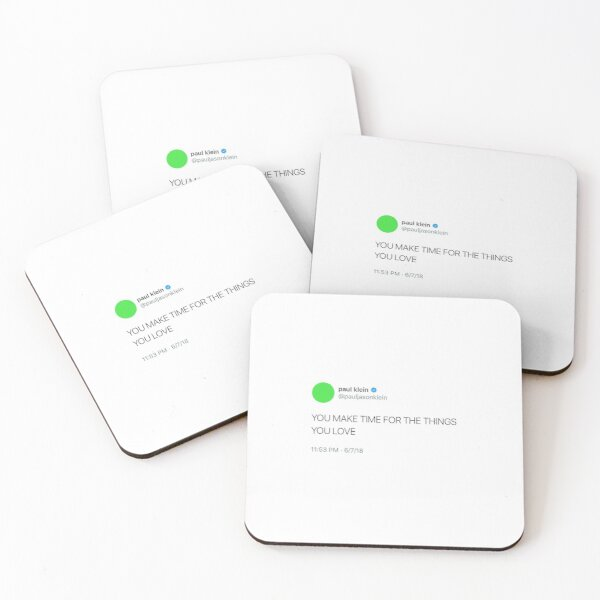 paul klein tweet Coasters (Set of 4)