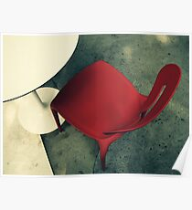 Little Red Chair Poster