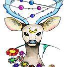 Gentle Cosmic Deer  by wonderfulhippie