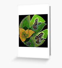 Amazonian Aboriginal Frog - Rana Aborigen Amazónica Greeting Card