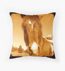 A horse Throw Pillow