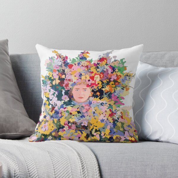 The Midsommar May Queen Throw Pillow