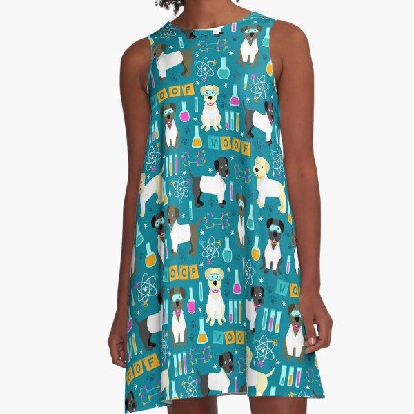 Laborassistenten A-Linien Kleid
