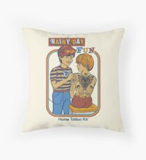 Rainy Day Fun Throw Pillow