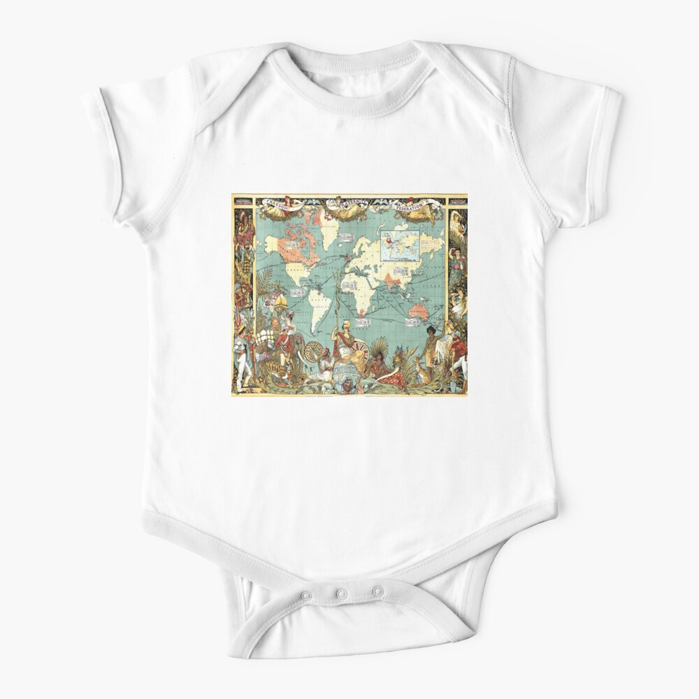 World Map 1886 Baby One-Piece