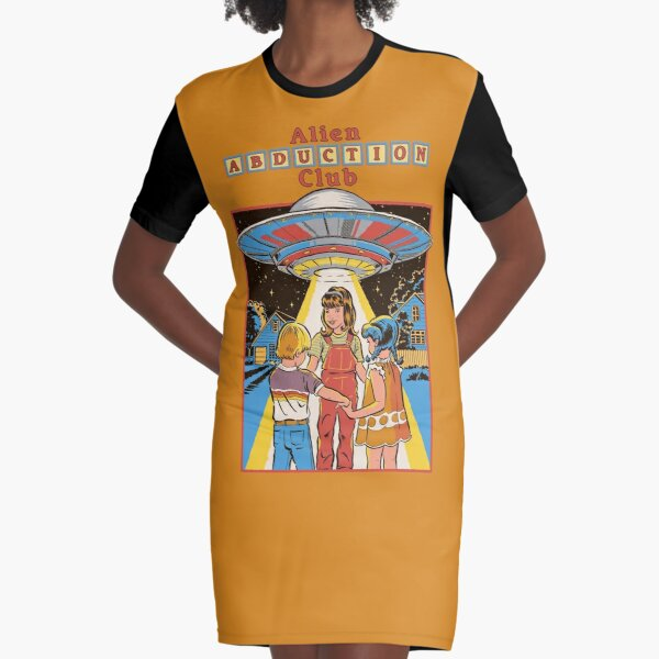 Alien Abduction Club Graphic T-Shirt Dress