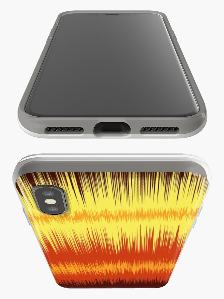 Alternate view of Fire Waves iPhone Case & Cover