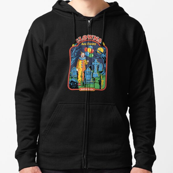 Clowns are Funny Zipped Hoodie