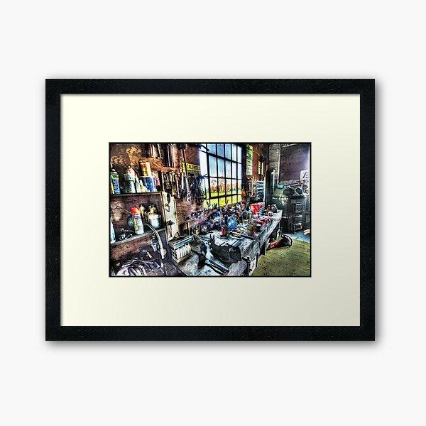 Jim's Workbench Framed Art Print