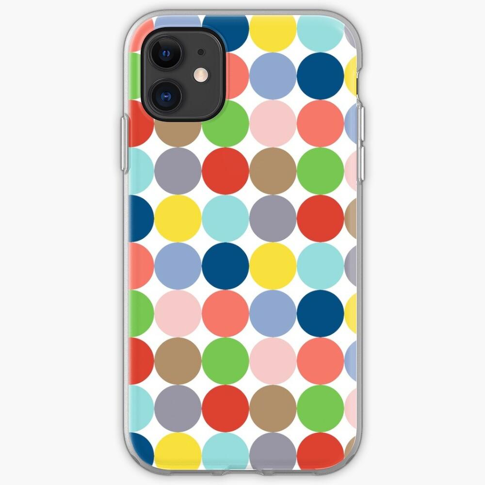 Bunte Kreise in Pastellfarben iPhone-Hülle & Cover