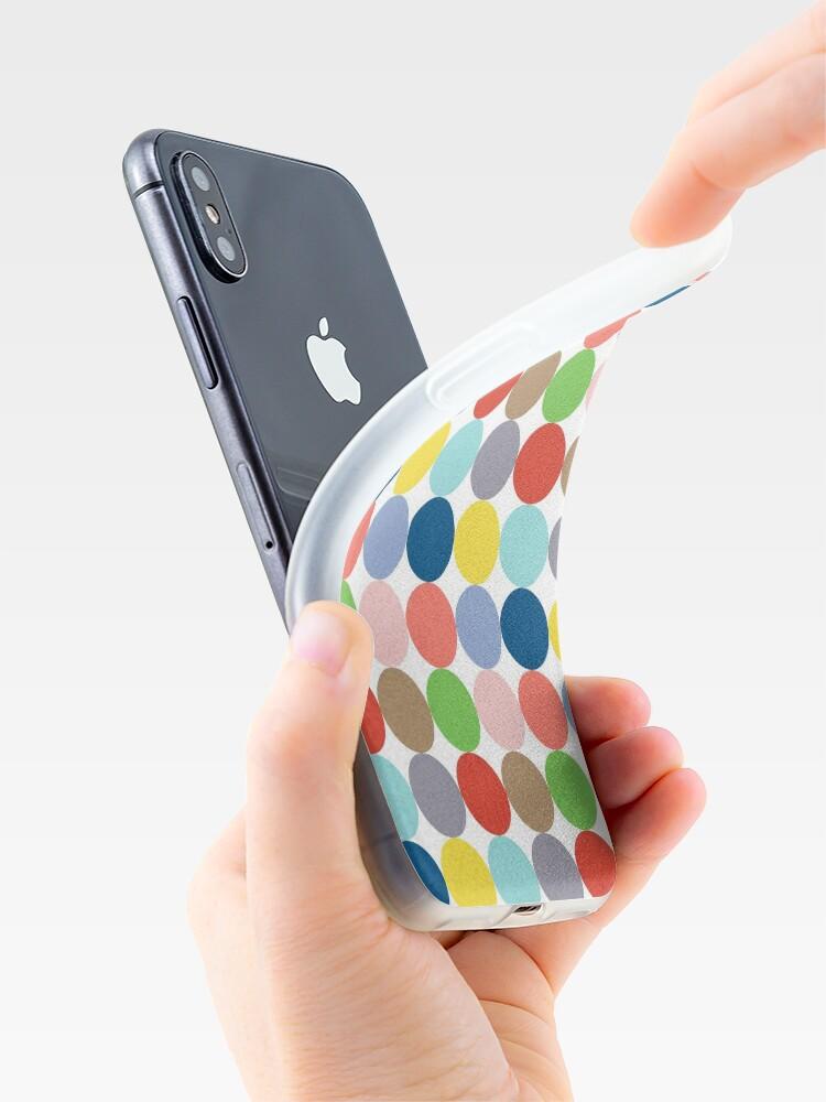 Alternative Ansicht von Bunte Kreise in Pastellfarben iPhone-Hülle & Cover