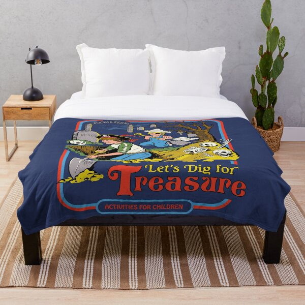 Let's Dig For Treasure Throw Blanket