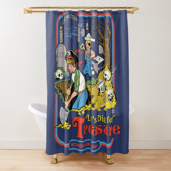 Let's Dig For Treasure Shower Curtain