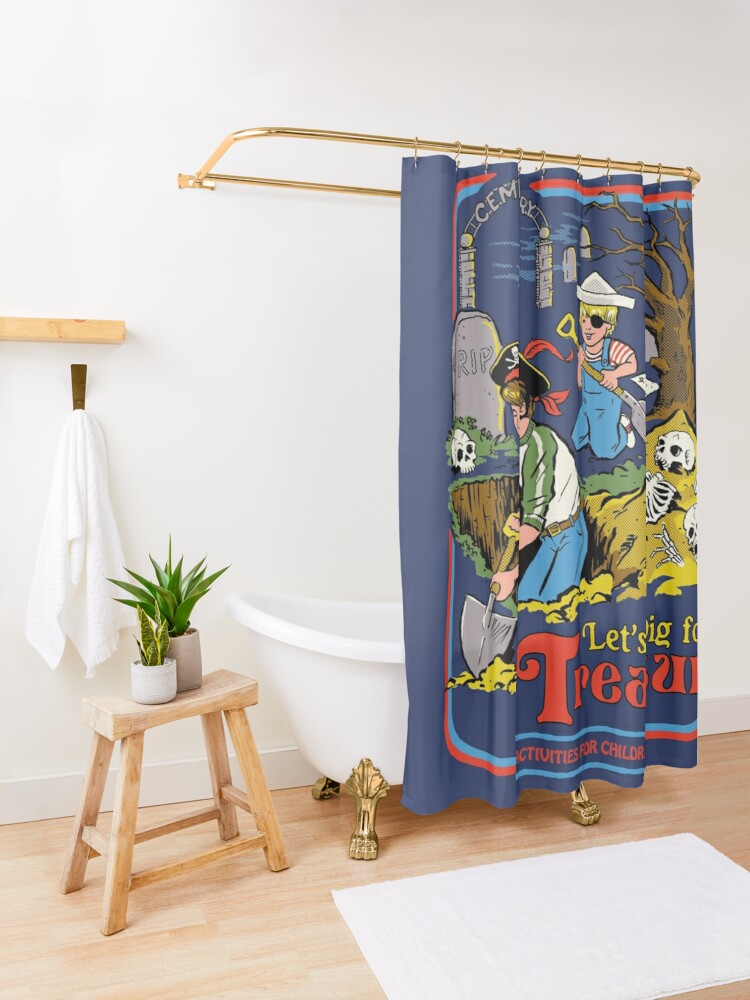Alternate view of Let's Dig For Treasure Shower Curtain