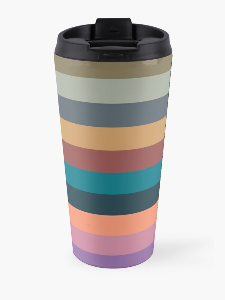 Alternate view of color stripes in colorful pastel Travel Mug