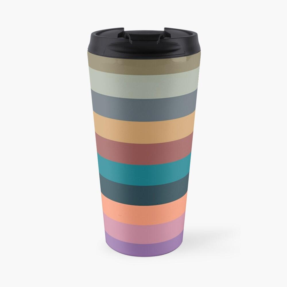 color stripes in colorful pastel Travel Mug