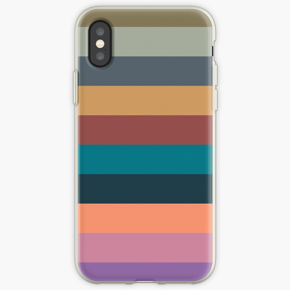 color stripes in colorful pastel iPhone Case & Cover
