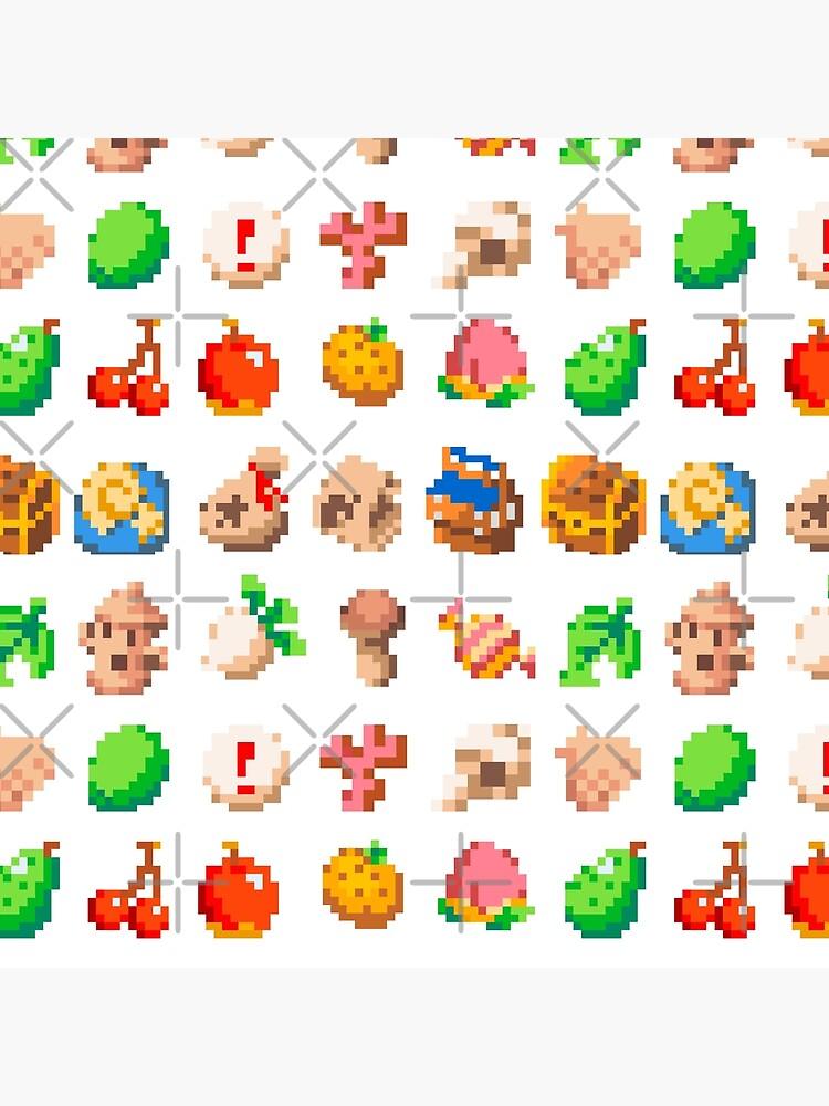 Animal Island Item Sprites Animal Crossing Pixel Art Art Board Print