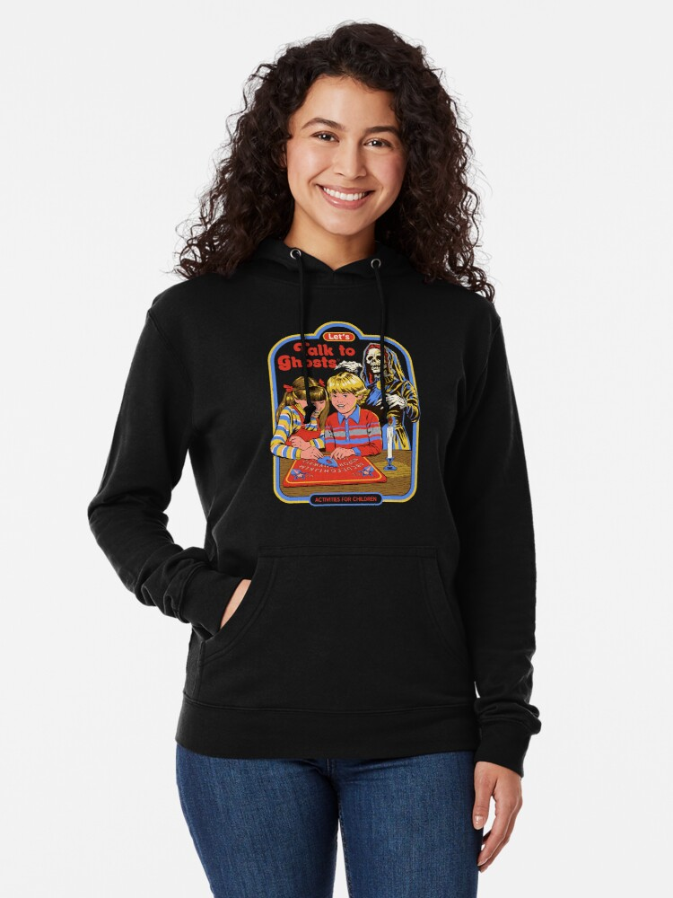 Alternate view of Let's Talk to Ghosts Lightweight Hoodie