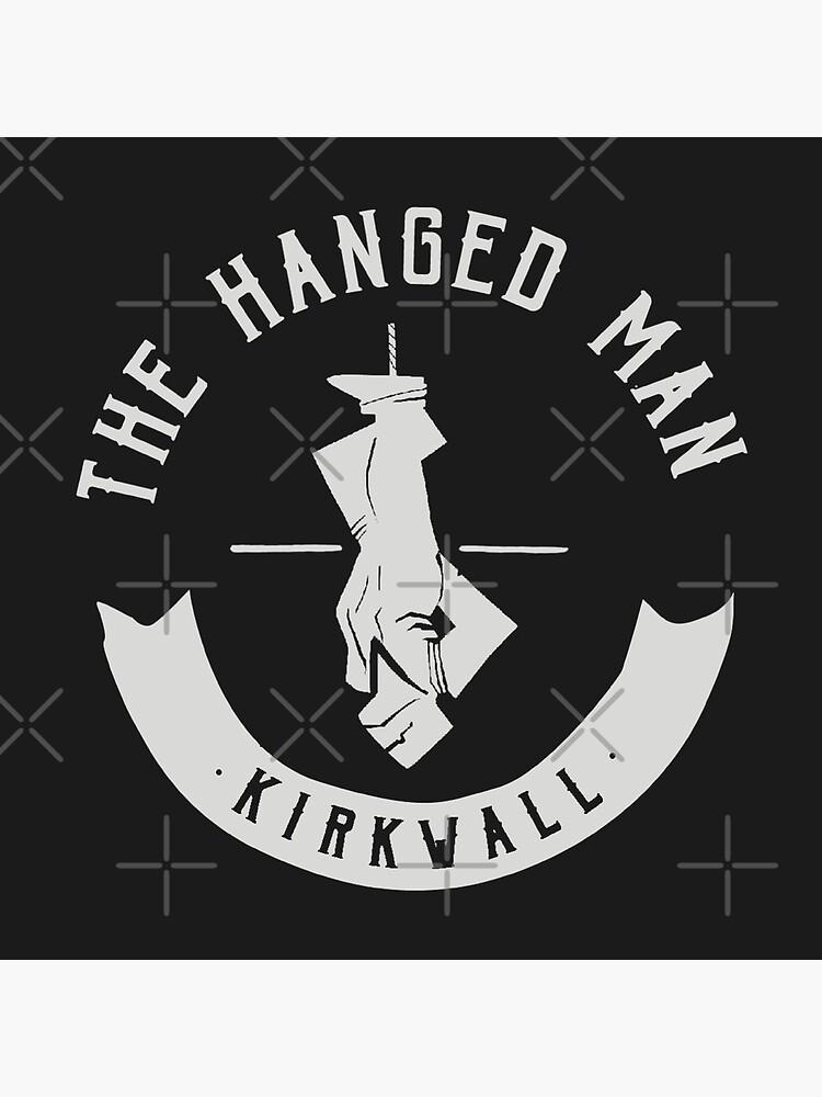 The Hanged Man Pub Logo | Dragon Age 2 | White Logo by surik-