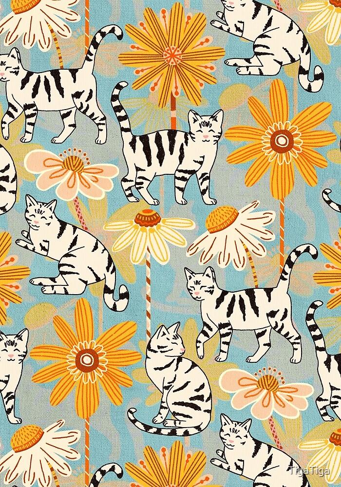 Daisy Cats - Baby Blue by TigaTiga