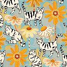 Daisy Cats - Baby Blue by TigaTiga