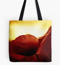 Golden Glow Poppie Tote Bag