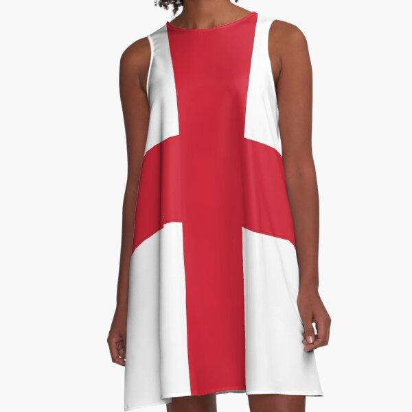 Flag of England - St George's Cross - Football Sport Team Sticker T-Shirt Bedspread A-Line Dress