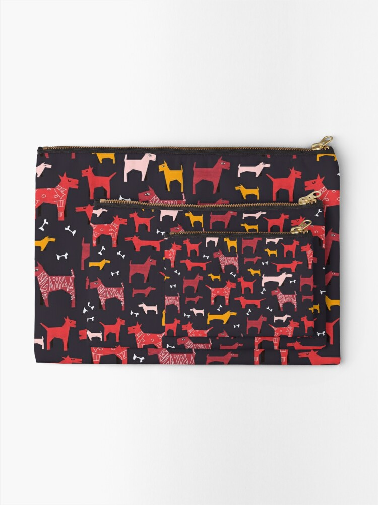 Alternate view of Dogs Funny Zipper Pouch