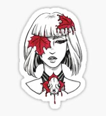 Leafs and Skulls Sticker