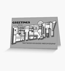 Greetings from Pewter City Greeting Card