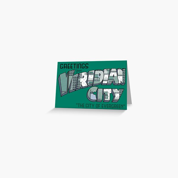 Greetings from Viridian City Greeting Card