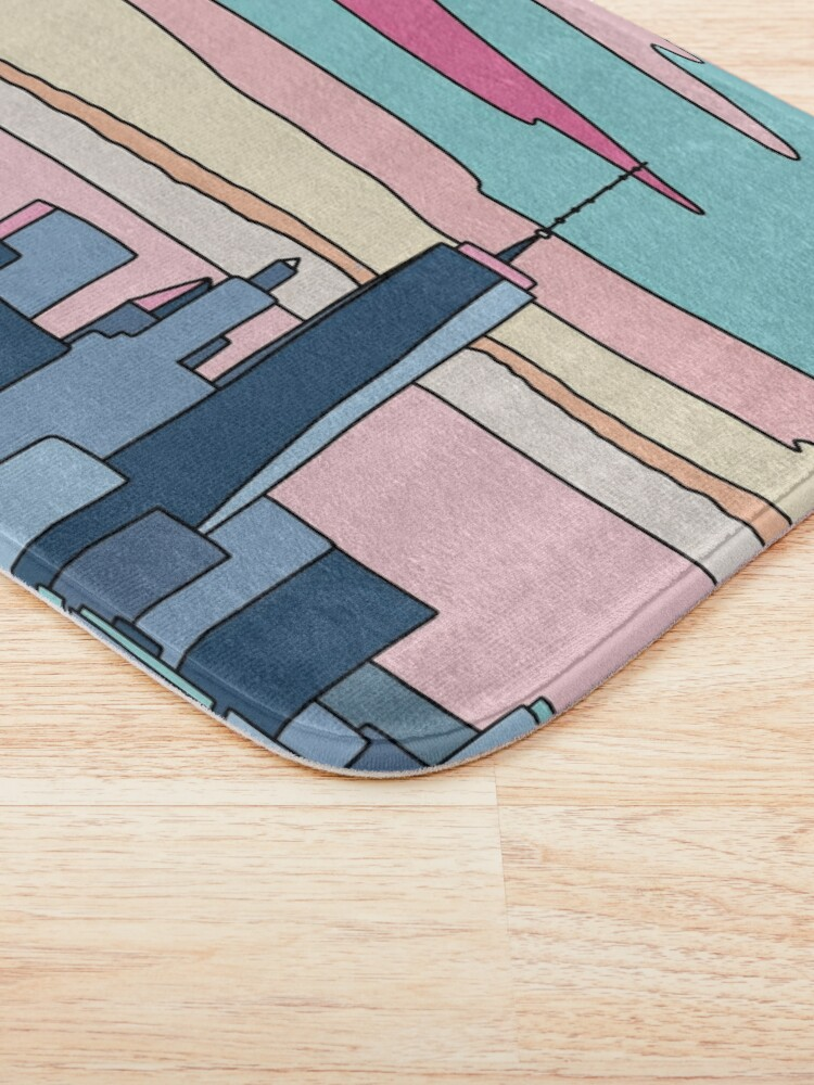 Alternate view of City sunset by Elebea Bath Mat