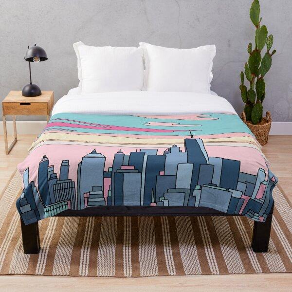 City sunset by Elebea Throw Blanket