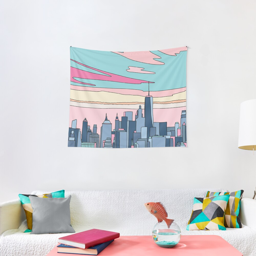 City sunset by Elebea Tapestry