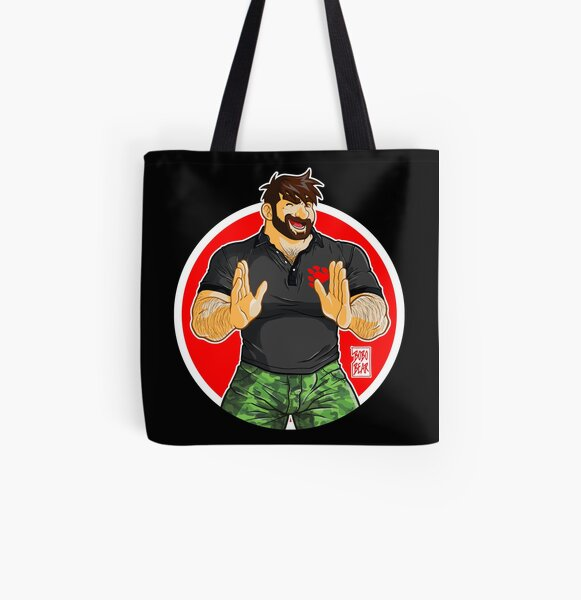 ADAM - BIG BOY (BLACK POLO) All Over Print Tote Bag