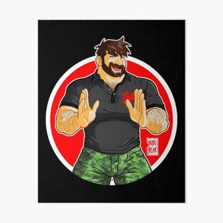 ADAM - BIG BOY (BLACK POLO) Art Board Print