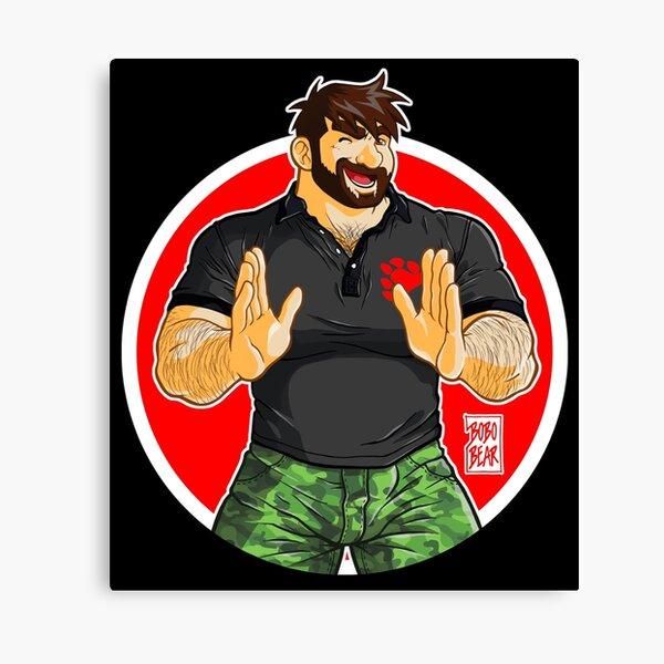 ADAM - BIG BOY (BLACK POLO) Canvas Print