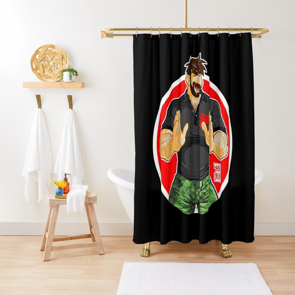 ADAM - BIG BOY (BLACK POLO) Shower Curtain