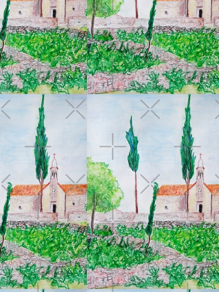 ISLAND HVAR WATERCOLOUR LANDSCAPE  by IvanaKada