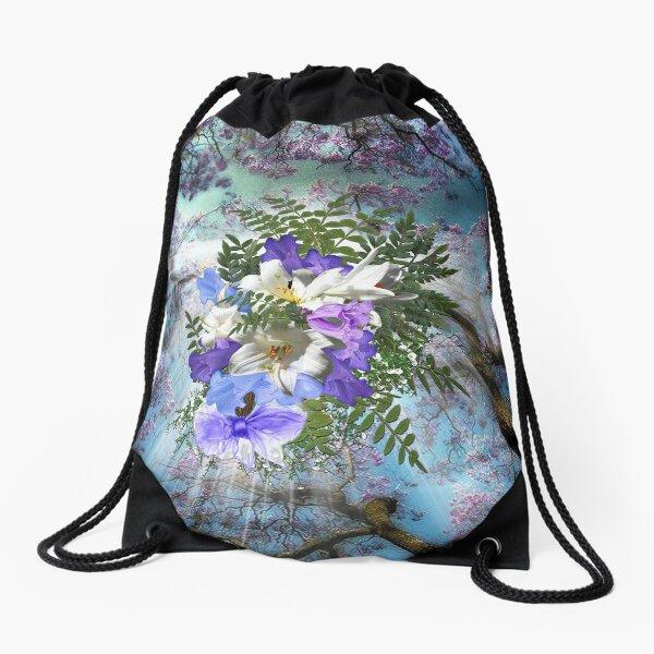 Jacaranda Blooms  Drawstring Bag