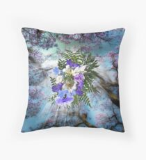 Jacaranda Blooms  Throw Pillow